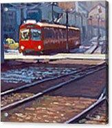 Red Trolley Acrylic Print