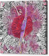 Red Tutu Acrylic Print