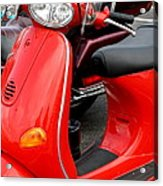 Red Vespa Vintage Scooter Motorcycle Acrylic Print
