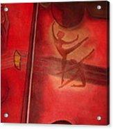 Red Violin Acrylic Print