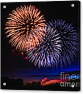 Red White And Blue Acrylic Print by Robert Bales
