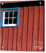 Red White And Blue Window Acrylic Print