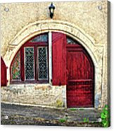 Red Windows And Door Provence France Acrylic Print