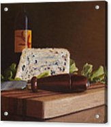 Red Wine And Bleu Cheese Acrylic Print