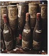 Red Wine Bottles, Covered With Mold Acrylic Print by James L. Stanfield