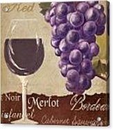 Red Wine Collage Acrylic Print