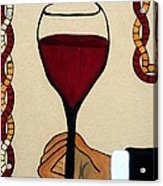 Red Wine Glass Acrylic Print by Cynthia Amaral