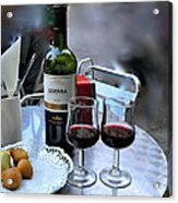Red Wine In Barcellona Acrylic Print