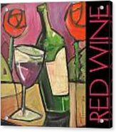 Red Wine Poster Acrylic Print