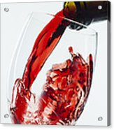 Red Wine Pour Acrylic Print