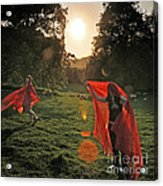 Red Witches Dance Acrylic Print