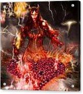 Red Woman Acrylic Print