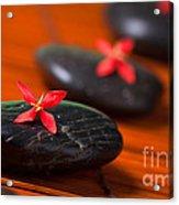 Red Zen Acrylic Print