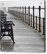 Redcar, North Yorkshire, England Row Of Acrylic Print