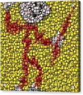 Reddy Kilowatt Bottle Cap Mosaic Acrylic Print by Paul Van Scott