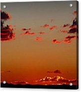 Reds Of An Autumn Sky Acrylic Print