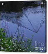 Reeling In The Lure Acrylic Print by Sandy Owens