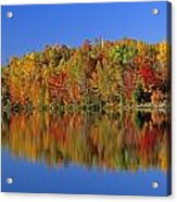 Reflected Autumn Trees In Simon Lake Acrylic Print