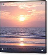 Reflected Beach Sunrise Acrylic Print