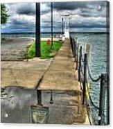 Reflecting At The Erie Basin Marina Acrylic Print