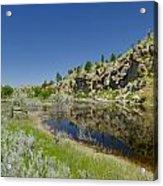 Reflecting Cliffs Acrylic Print