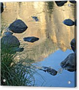 Reflecting Peaks In The Merced River Acrylic Print