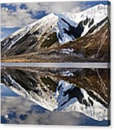 Reflection In Lake Pearson, Castle Hill Acrylic Print