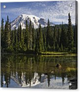 Reflection Lake And Mount Rainier Acrylic Print