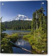 Reflection Lake With Mount Rainier Acrylic Print