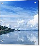 Reflection Of Clouds In Water, Lough Acrylic Print