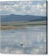 Reflection Of Clouds On Eagle Nest Lake Acrylic Print