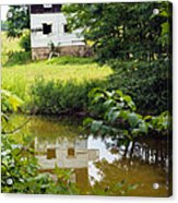 Reflection Of The Barn Acrylic Print