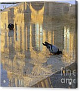 Reflection Of The Louvre In Paris Acrylic Print