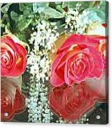 Reflection Red Roses Acrylic Print