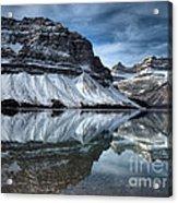 Reflections At Bow Lake Acrylic Print