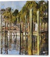 Reflections At Fort Pierce Acrylic Print