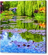 Reflections At Giverny Acrylic Print