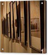 Reflections From A Series Of Painting Frames Acrylic Print