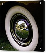Reflections In A Hubcap Acrylic Print