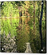 Reflections In The Merced Acrylic Print