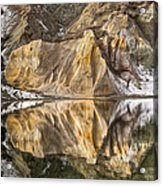 Reflections Of Clay Cliffs In Blue Lake Acrylic Print