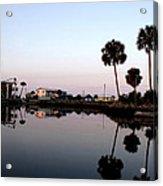 Reflections Of Keaton Beach Marina Acrylic Print