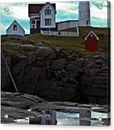 Reflections Of Nubble Lighthouse Acrylic Print by Scott Moore