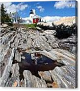 Reflections Of Pemaquid Acrylic Print by Brenda Giasson