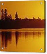 Reflections On Jessica Lake At Sunrise Acrylic Print