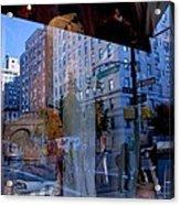 Reflections On Madison Avenue Acrylic Print