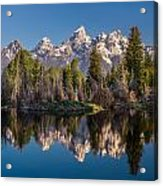 Reflections On Schwabacher Landing Acrylic Print