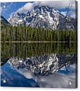 Reflections On String Lake Acrylic Print