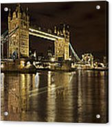 Reflections On The Thames Acrylic Print