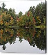 Reflective Turtle Pond - Adirondack Park New York Acrylic Print